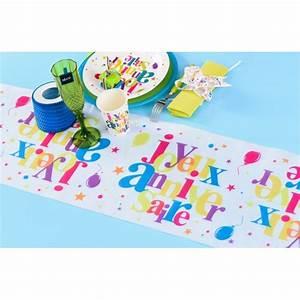 Chemin De Table Anniversaire : chemin de table joyeux anniversaire festif 5 m ~ Melissatoandfro.com Idées de Décoration