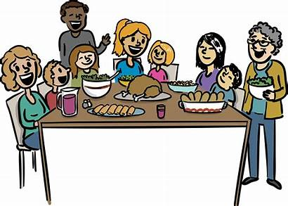 Dinner Clipart Feast Dining Transparent Eat Getdrawings