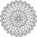 Coloring Mandala Therapy sketch template