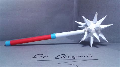 How To Make A Paper ' Morning Star Weapon'- Easy