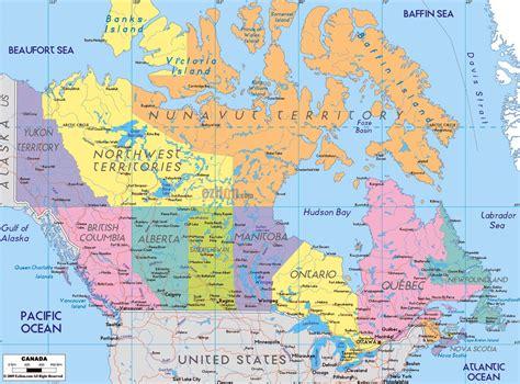 Carte Du Canada Avec Villes by Canada Carte Avec Les Noms De Ville Carte D 233 Taill 233 E Du