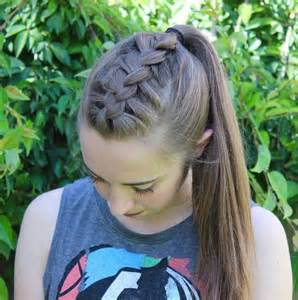 French Braid into Ponytail Hairstyles