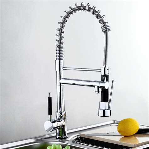 Wall Mount Kitchen Faucet With Pull Out Spray by Modern Chrome Pull Out Spray Hose Swivel Brass Kitchen
