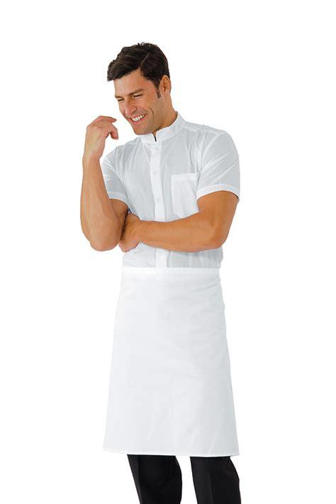 tablier cuisine pas cher tablier taille cm 70x60 sans poches blanc vêtements de