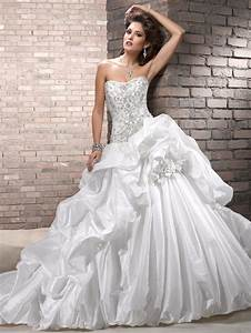 looking chic and elegant with strapless ball gown wedding With ball gown wedding dress