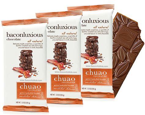 chuao baconluxious maple bacon milk chocolate bar  pack