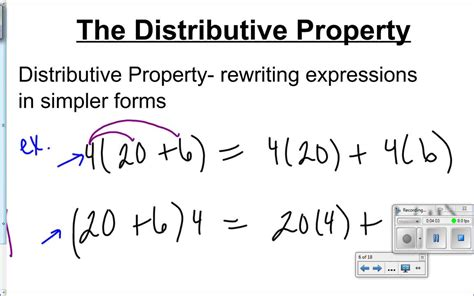 Math Worksheets Distributive Property 8th Grade  Solving Multi Step Equations Worksheet 8th