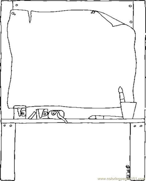 easel coloring page  school coloring pages