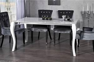 Moderne Barock Möbel : casa padrino barock esstisch hochglanz wei mit auszug 170 200 230cm esszimmer tisch barock ~ Sanjose-hotels-ca.com Haus und Dekorationen
