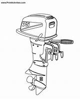 Boat Motor Coloring Outboard Pages Engine Clipart Motors Colouring Boats Moter Popular Clipground Library Coloringhome sketch template