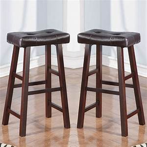 About A Stool : set of 2 dark cherry faux leather solid wood 29h saddle counter height bar stool ebay ~ Buech-reservation.com Haus und Dekorationen