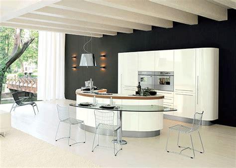 forme cuisine la cuisine avec ilot central moderne et pratique