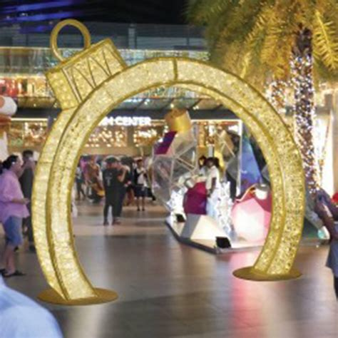 christmas outdoor decoration arch lights mall shopping lighted commercial ornament holiday grade street light led items shaped frame metal larger