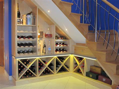 custom   stairs wine rack  storage oak paneling rooms  impress
