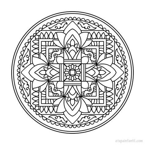 Dibujo De Mandalas Para Imprimir Y Colorear  Etapa Infantil