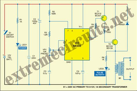 electric windowfence charger circuit diagram