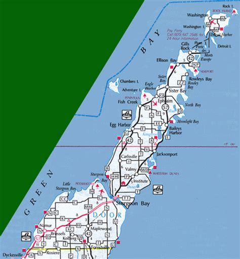 map of door county wi maps of door county wisconsin sections door