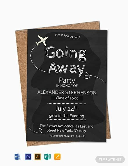 printable   party invitation template word
