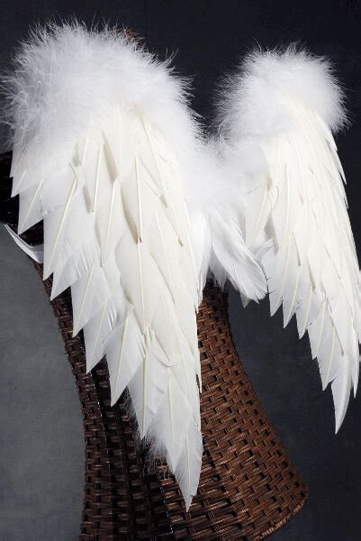 handcrafted  white angel wings  marabou ostrich trim
