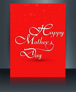 Beautiful mothers day template brochure card reflection ...