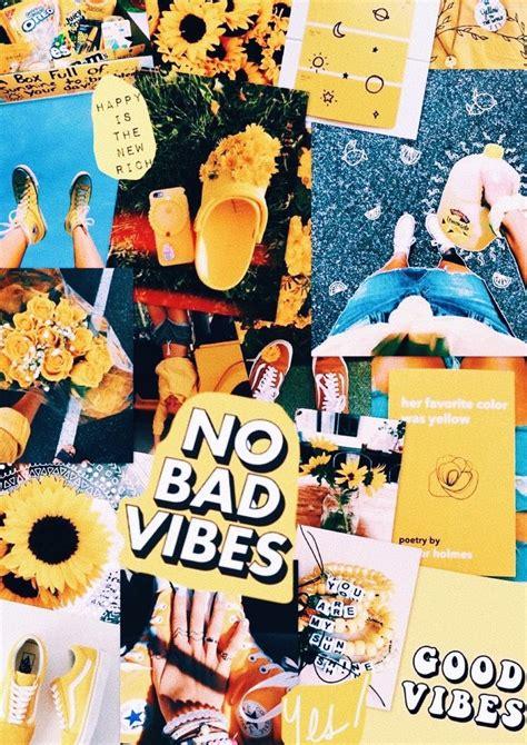 nobadvibes yellow aesthetic collage background