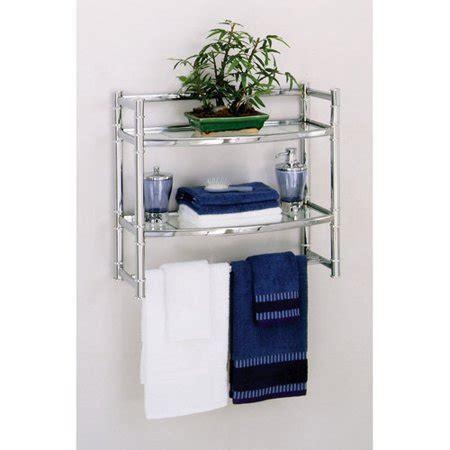 shelves walmart zenith wall shelf with 2 glass shelves chrome finish Wall