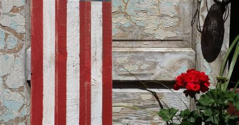 wood american flag  sign reversible sign