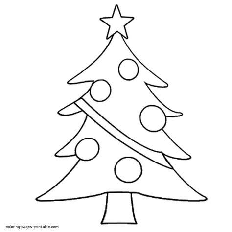 easy adult christmas tree coloring pages gallery