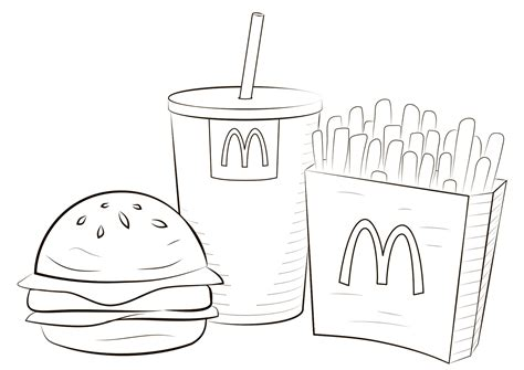 mcdonald food coloring page  printable coloring pages  kids