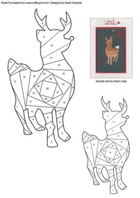 christmas reindeer iris folding pattern cup
