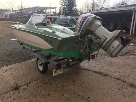Outboard Motors For Sale New Jersey by 1969 Glastron Gt 160 Boat 1969 Evinrude 115 Hp Outboard