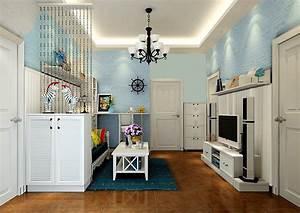 Small house living room blue brick wall Korean style