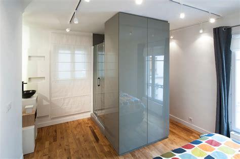 chambre avec salle d eau chambre salle d 39 eau et dressing réunis pour plus d 39 espace
