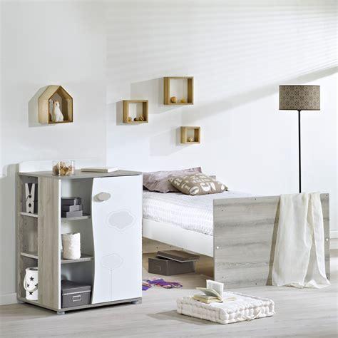 chambre transformable lit chambre transformable 120x60 en 90x190 nael armoire