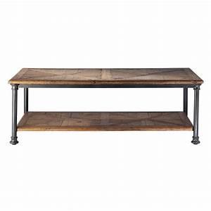 Table Salon Metal : table basse en bois recycl et m tal l 135 cm fontainebleau maisons du monde ~ Teatrodelosmanantiales.com Idées de Décoration