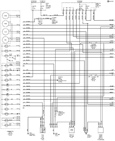 Electric Meter Wiring Diagram For Cluster by 1994 Mitsubishi Montero Instrument Cluster Circuit