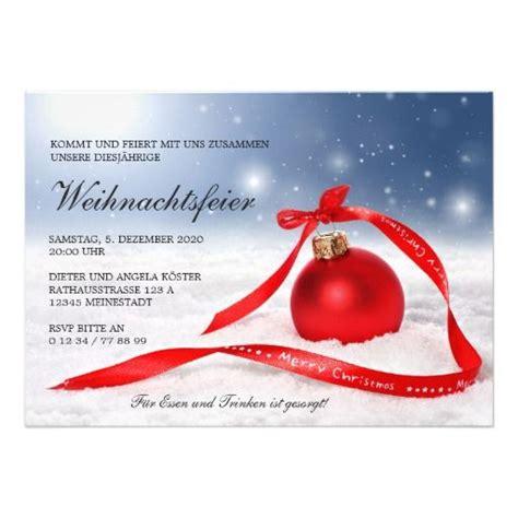 festliche weihnachtsfeier einladung vorlage