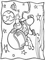 Space Coloring Pages Print sketch template