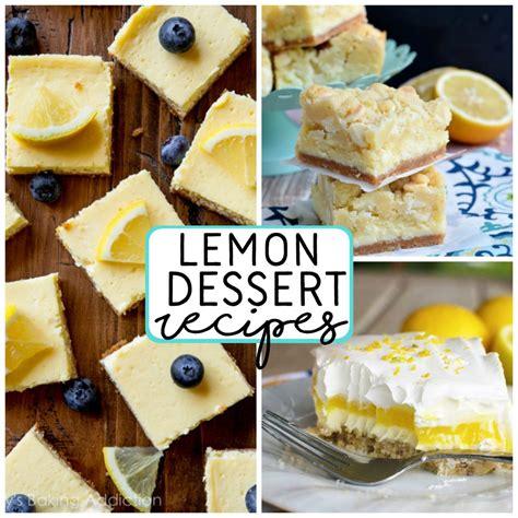 dessert recipes with lemon lemon dessert recipes