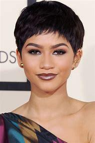 Short Hairstyle Women Pixie Cut