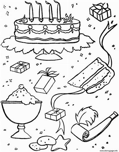 Coloring Birthday Pages Party Colouring Stuff Printable