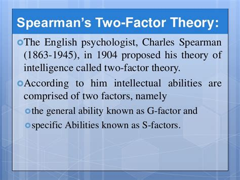 Spearman 2 Factor Theory