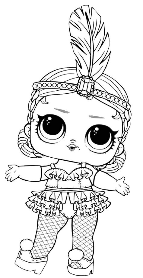 Juegos de colorear para chicas. Dibujos de LOL Surprise doll para colorear | Colorear imágenes