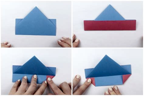 Origami Boat Using Square Paper by How To Make An Easy Origami Boat