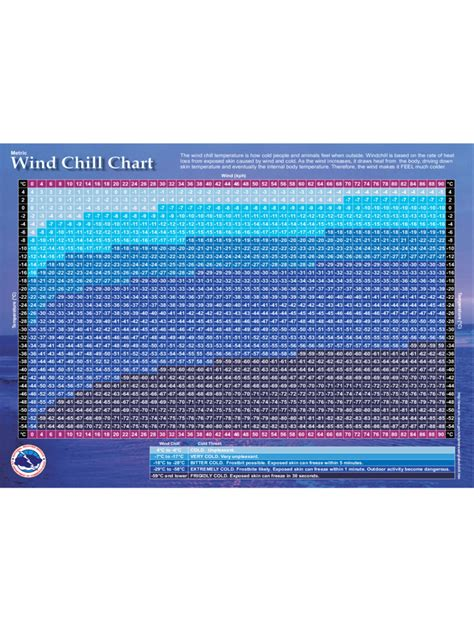 wind chill chart   templates   word excel