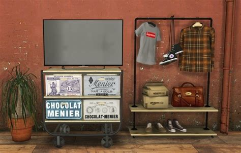 tv industrial clothing rack  mxims sims  updates