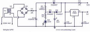Simple 12v Ups-circuit