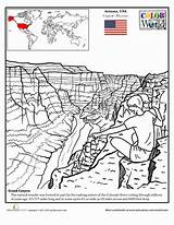 Canyon Grand Coloring Pages Education Worksheets Worksheet Sheets Grade Colouring Geography Places Fourth Printable Take Trip Arizona Drawing Around Series sketch template