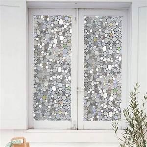 45*100cm Colorful pebbles glass window film window