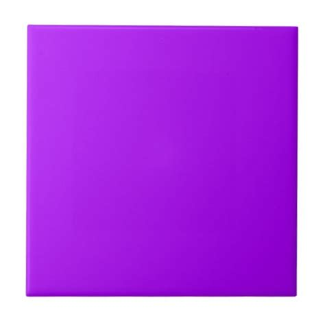 neon purple color code bright purple fuchsia neon purple color only tile zazzle